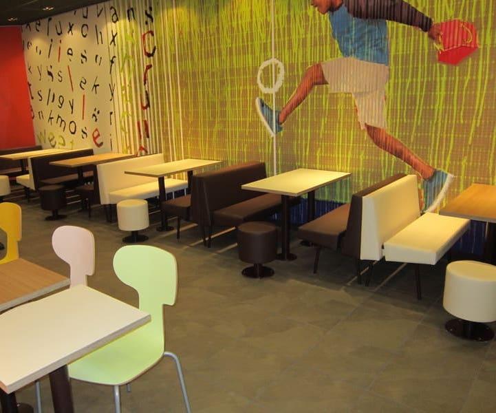 Мебель в стиле Lim Fresh для первого ресторана McDonalds в Херсоне