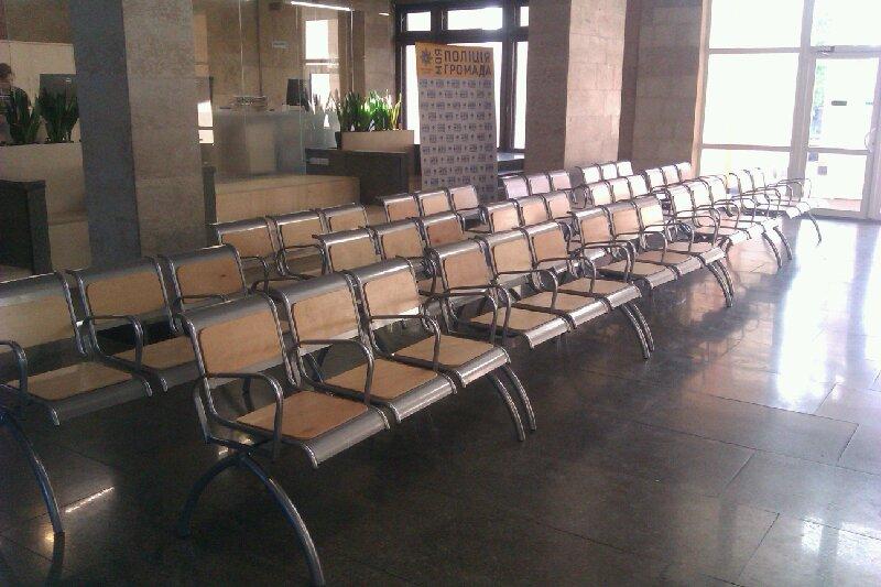 Оборудован зал ожидания Главного управления патрульной полиции г. Киева