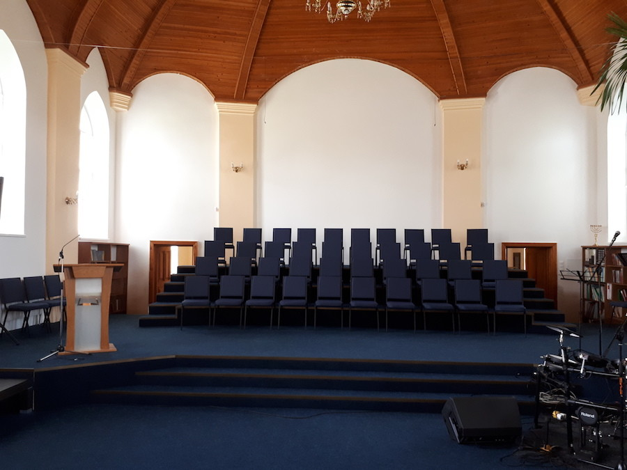 55 стульев для Церкви ЕХБ в Закарпатской области